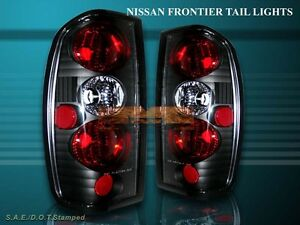 Fit 1998 2004 Frontier Altezza Tail Lights Black 03 02 01 00 99