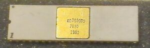 Analog Devices Ad7550bd Cmos 13bit A d Convertor 40pin Dip Ic Gold Trace Ceramic