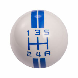 White Blue Ford Mustang Car Speed Manual Gear Shift Knob Shifter Lever 5 Speed