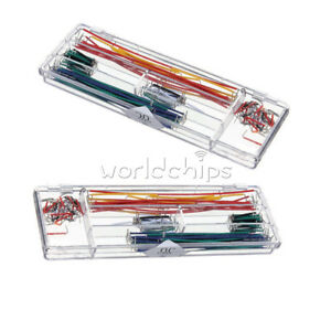 2pcs 140pcs Solderless Breadboard Jumper Cable Wire Kit Box Shield For Arduino