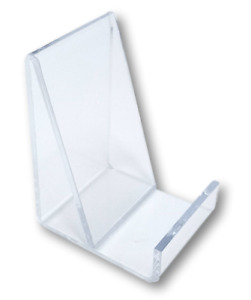 10 Clear Acrylic Flat Item Easel Display Stand Vertical Business Card Holder
