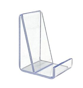 50 Clear Acrylic Flat Item Easel Display Stand Vertical Business Card Holder