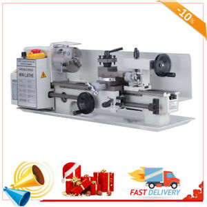 7 x14 mini Metal Lathe Machine 550w Variable Speed W Heat treated Lathe Bed