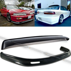 Fit 90 91 Integra Mugen Style Front Bumper Lip Rear Window Roof Spoiler Visor