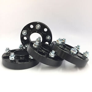 4x Black Hubcentric Wheel Spacers Adapters 5x114 3 12x1 25 56 1 Cb 20mm Sti