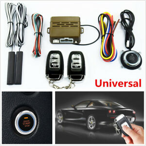 Car Smart Alarm System Key Passive Engine Start Keyless Entry Push Button Remote