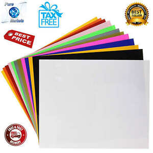 Heat Transfer Vinyl 12 color Starter Bundle For Cricut And Silhouette Cameo New