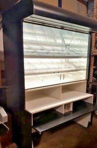 58 Bakery Display Case Dry Self serve 2 Door Glass Donut Bread Upright Floor