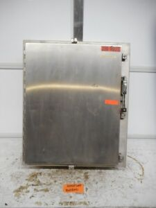 Hoffman Industrial Control Panel Enclosure W 783695 Stainless Steel 30x24x8