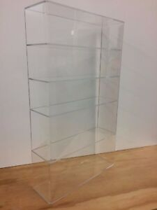 Acrylic Lucite Countertop Display Case Showcase Box Cabinet 14 w X 4 1 4 X 24 h