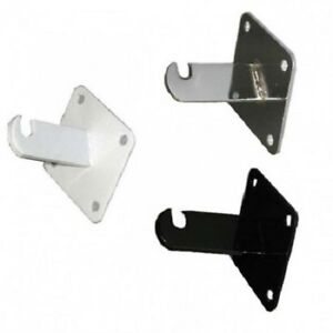 Gridwall Wall Mount Bracket Grid Panel Mounting Brackets Black White Chrome
