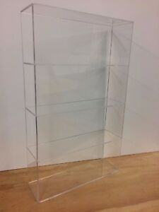 Acrylic Lucite Countertop Display Case Showcase Box Cabinet 14 w X 4 1 4 X 23 h