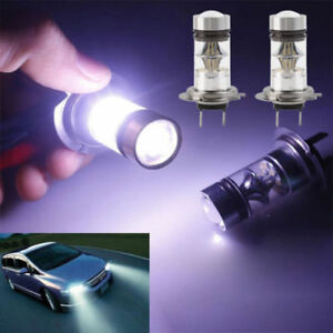2 H7 100w Led White 6000k Car Truck Bulbs Drl Light Lamp Canbus Error Free Sg
