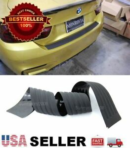35 Black Rear Bumper Rubber Guard Cover Sill Plate Protector For Bmw