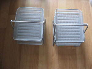 Lot Of Two 3 Tier Stackable Letter Tray Desk Office File Document Paper Holder