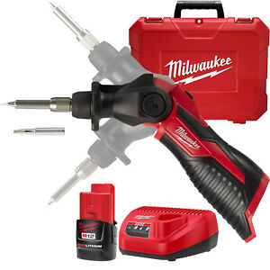 Milwaukee 2488 21 M12 Cordless Soldering Iron Kit New