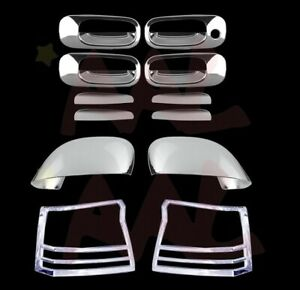 Aal For 2006 2010 Dodge Charger Chrome Mirror Tail Light Door Handle Cover Trims