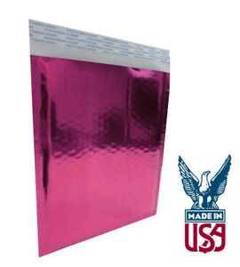 Size 2 8 5 x11 Metallic Pink Foil Metalized Bubble Mailer Glamour