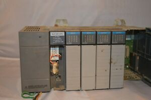Allen bradley Slc 500 7 Slot Rack With 2 Input Cards And 2 Output Cards Ser B