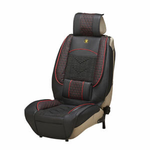 1pcs Universal Leather Car Seat Cover Cushion Back Support Waist Massage