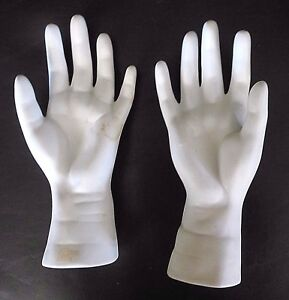 Vtg Mannequin Pair 2 Hands Right Left Hands Jewelry Display Home Decor