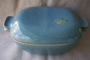 Glidden Pottery #161 LARGE COVERED CASSEROLE CHICKEN ROASTER by Fong Chow