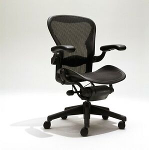 Herman Miller Aeron Mesh Desk Chair A Size small Fully Adjustable With Lumbar