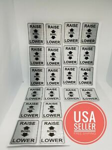 Hobart Label bowl Raise Lower Free Shipping 20 Pack