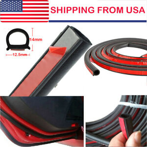 Weatherstrip Big D Shape Universal Car Door Rubber Weather Seal 4m Hollow Strip