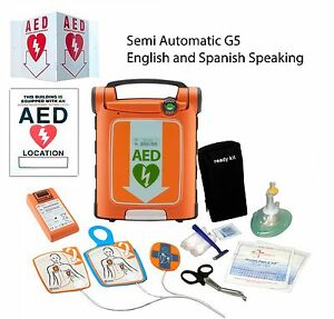 Cardiac Science Powerheart Aed G5 Semi Automatic Dual Language english spanish