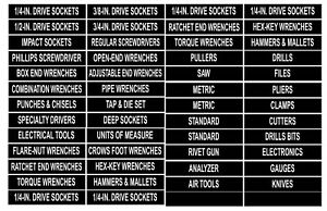 Labels For Tool Box Or Storage Unit Organize Vinyl Decal Stickers