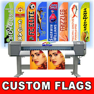 15 Full Color Custom Tall Swooper Advertising Flag Feather Banner No Hardware