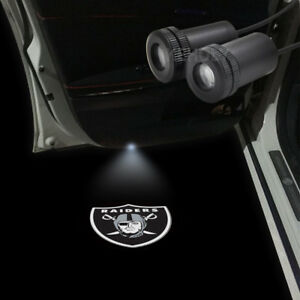 2pcs Oakland Raiders Logo Car Door Lamp Led Laser Projector Ghost Shadow Light