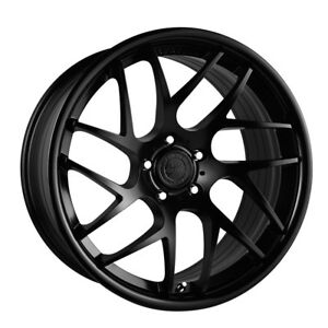 20 Vertini Rf1 4 Forged Black Concave Wheels Rims Fits Nissan Gtr