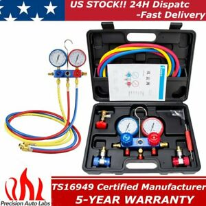 Ac Refrigeration Kit A C Manifold Gauge Set Air R12 R22 R134a 410a R404z R502