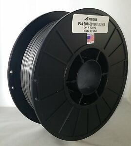 Argos 1 75mm Pla Silver Made In The Usa 3d Printer Filament 1kg 2 2lbs Spool