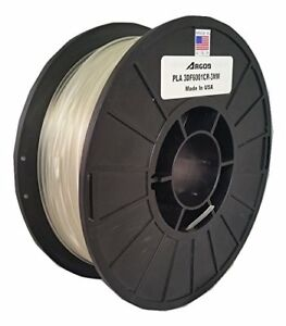 Argos 3mm Pla Clearnatural Made In The Usa 3d Printer Filament 1kg 2 2lbs