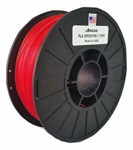 Argos 1 75mm Pla Red Made In The Usa 3d Printer Filament 1kg 2 2lbs Spool