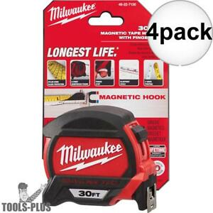 Milwaukee 48 22 7130 30 Magnetic Tape Measure 4x New