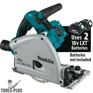 Makita Xps01z 36v 18v X2 Lxt Brushless 6 1 2 Plunge Track Saw tool Only New