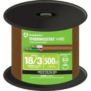 Southwire 500 Ft 18 3 Brown Solid Thermostat Wire 64168845