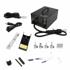 Aoyue 968a 4 In 1 Digital Soldering Iron Hot Air Station Complete Kit Vip