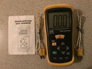 Digital Two channel Thermocouple Thermometer 50c To 1300c 58 To 2000f Dt 612