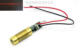 High Power 650nm 660nm 100mw Red Line Beam Laser Diode Module W Driver Out 3 7v