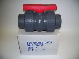 Legend 201 210 3 Pvc True Union Ball Valve sch 80 soc Ends new In Box
