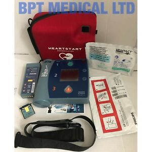 Philips Heartstart Fr2 Aed Defib Case Good Battery Memory Card Pads Uk