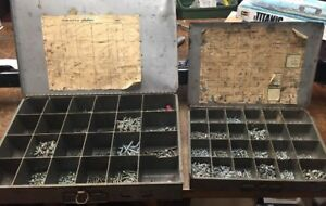 Huge Lot Of Nuts And Bolts And Screws In The Metal Cases
