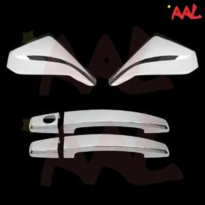 Aal For Chevy 2010 11 12 13 14 15 Camaro Chrome Mirror Covers Doors Handle W o K