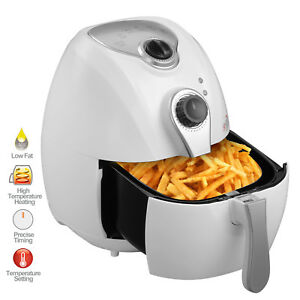 1300w 4 4qt Electric Oil Less Air Fryer Timer And Temperature Control White