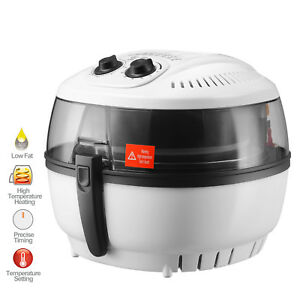 7 4qt Electric Oil less Air Fryer 1400w Timer And Temperature Control White